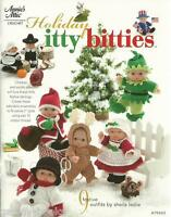"Holiday Itty Bitties Crochet Instruction Pattern Book for 5"" Doll Outfits Thread"