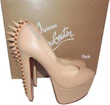 35.5 Christian Louboutin Electropump Spiked Red Sole Pump Nude Platform Shoe