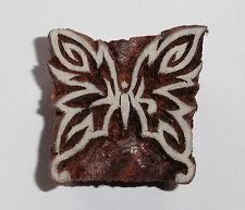 Mariposa Sello 3.9cm x 3.8cm Indio Tallado A Mano Madera Bloque De Impresión