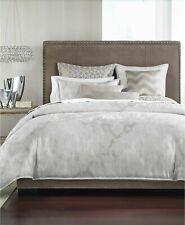 Hotel Collection Interlattice FULL QUEEN Duvet Cover Silver NEW $335