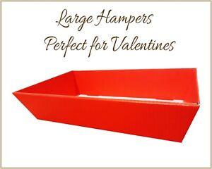 25 x Large RED Valentines Cardboard Hamper Tray Gift Baskets Present Baby Shower