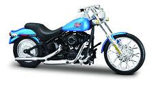 HARLEY-DAVIDSON 2002 FXSTB TREN DE NOCHE AZUL 1:18 Modelo Motocicleta Fundición