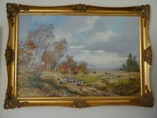 Don Vaughan oil painting Horse and hounds Hunting