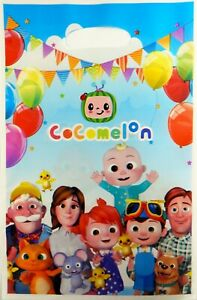 COCOMELON PARTY LOOT LOLLY GOODY FAVOUR BAGS - PARTY SUPPLIES - PACK OF 10