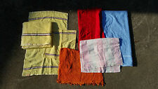 Vintage Mid Century 70s Bathroom Kitchen Towel Lot Hand Wash Retro Atomic
