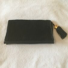 Very rare Chanel Vintage (1980s) Black Sequin Lambskin Leather Clutch Handbag