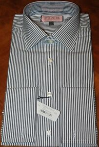 "Thomas Pink Classic Fit ""Bengal Stripe"" French Cuff Dress Shirt NWT"