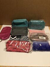 Lot of 9 Cosmetic Bags Elemis, Clarins, Estee Lauder, Farmacy, Dior, It Cosmetic