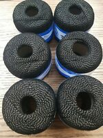 Double mercerized crochet thread, cotton, black and gold,  6 x 50g FREE POSTAGE