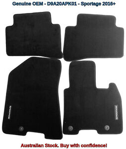 Genuine OEM Kia Sportage QL MY16 Onwards Tailored Carpet Floor Mats D9A20APK01