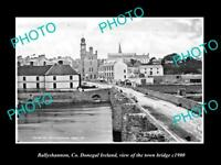 OLD LARGE HISTORIC PHOTO OF BALLYSHANNON IRELAND, THE TOWN BRIDGE c1900