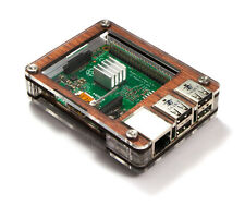 Zebra Case Raspberry Pi3, Pi 3, 2, B+ & 2B (Wood) with Heatsinks ~ C4Labs