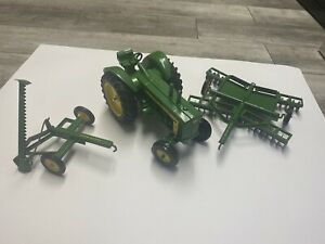 John Deere Diesel 820 Metal Toy with Plow