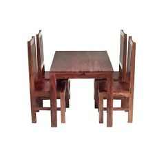 Cube Taj Sheesham 4 Seater Dining Set with 4 Wooden Chairs