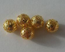 Modeschmuck 20 Metallperle Legierung Perle 8 mm Farbe gold Kettenperlen Kugel