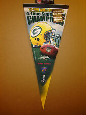 Green Bay Packers 4X Super Bowl Champions Premium NFL Pennant