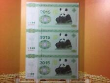 2015 China Panda Test Note Uncut 3in1 with folder (UNC)