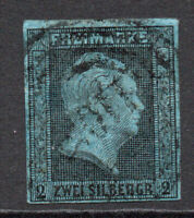 Prussia (Germany) 2 Sgr Stamp c1850-56 Used (3799)