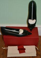 NIB $795 Valentino Garavani VLogo Leather Ballerina Flats - Sz 11.5 B US 41.5 EU