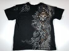 Brad Butter Mens Graphic T Shirt Size Large Black Skull
