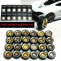 1/64 Scale Alloy Wheels - Custom Hot Wheels, Matchbox,Tomy, Tires Rubber NE D4X7