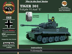 Lego - Tiger tank 301, Kurt Knispel - Instructions Download