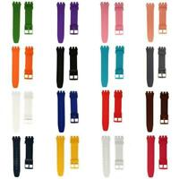Silicone Soft Rubber Replacement Watch Band 20mm for Watch and Smartwatches