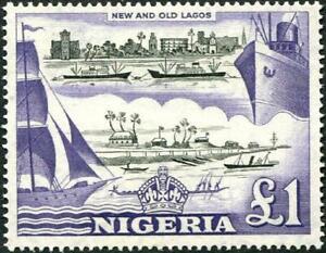 Nigeria 1953-58 QEII  £1 Black & Violet   SG.80 Mint (Hinged)   Cat:£35