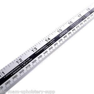 """1 METRE (1000mm) LONG METAL RULER 40"""" MEASURE  DOUBLE SIDED. Aluminium Ruler"""