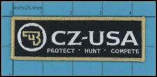 CZ Ceska Zbrojovka IRON ON PATCH Gun Pistol Safe Action Handgun Police Army HUNT