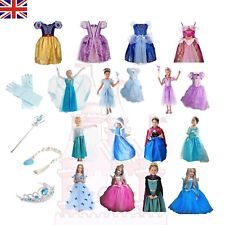 Girls Fancy Dress Up for Frozen Snow White Rapunzel Cinderella Costume Outfit UK