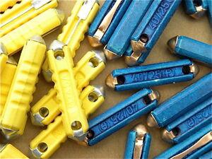 10 fusibles fuse steatite (2X5) 40 ET 5 A auto moto scooter car AUTOMOBILE