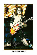 ACE FREHLEY - HUGE AUTOGRAPHED PHOTO POSTER PRINT - GREAT GIFT - GET IT NOW!