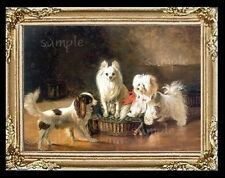 Dogs Puppies Miniature Dollhouse Doll House Picture