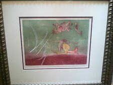 ROBERTO MATTA HAND SIGNED AQUATINT ETCHING ON ARCHES PAPER