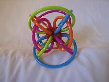 Manhattan Toys Winkel Rattle & Sensory Teether - 4.5 inch activity baby teether