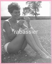 1960's ORIGINAL LARGE AMATEUR GLAMOUR PHOTO -  BIKINI - EROTIC B&W