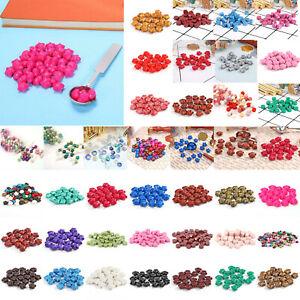 30pcs/100pcs Retro Colors Sealing Wax Beads Home Stamp Invitation Wedding Cards