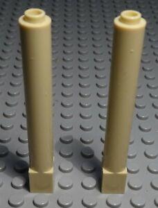 Lego Stein Säule 1x1x6 Beige 2 Stück                   (1541 #)