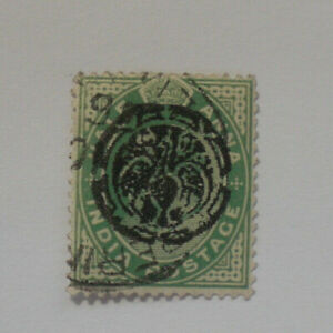 India half Anna stamp, Japanese Burma type overprint (forgery?)