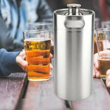4L Stainless Steel Big Beer Keg Bottle Growler for Wine Brew Pot With Screw Cap