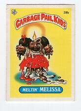 Meltin' Melissa 1985 Garbage Pail Kids (GPK) Mini Card #28b