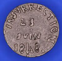 France handmade medal Uprising Insurrection Cavaignac June 1848 23mm [18193]