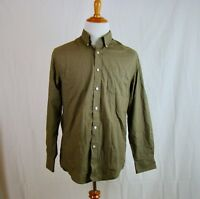 Saddlebred Men's Green Plaid Button Down Long Sleeve Shirt - Size M