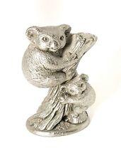 Koala Made In Australia Oz Pewter Figurine Vintage 1994 Mom & Baby In Tree