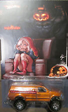 """Hot Wheels CUSTOM FORD F-150 """"HALLOWEEN"""" Real Riders Limited 1/25 Made!"""