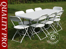 Ensembles de table et chaises de maison blancs pour véranda