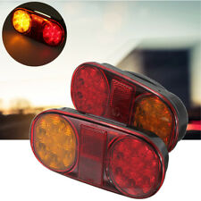 14 LED Truck Tail Trailer Stop Light Lamp Indicator Submersible For Jet Ski Boat