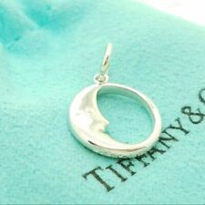 Tiffany & Co. Sterling Silver Man In Moon Small Charm Pendant Italy w/ Pouch