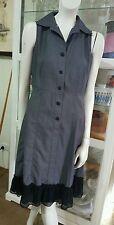 Vertigo Dress.Sz10.Light wool blend fabric, liberty floral chiffon lined.Bohemia